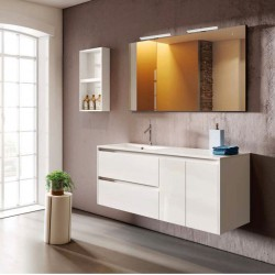 Flip two-tone bath furniture cm 90 - 120