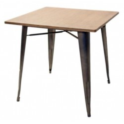 Art. 742NT table with wooden top