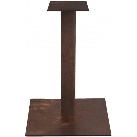2300 tavolino con base metallo e piano in rovere massello