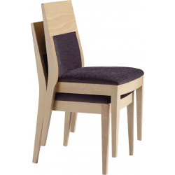 Art. 007 beech wood stool and stackable chair
