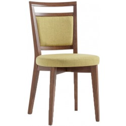 Art. 008 beech wood upholstered chair and stool
